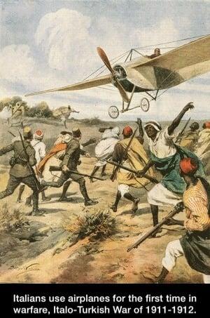 O surgimento da aviação de combate
