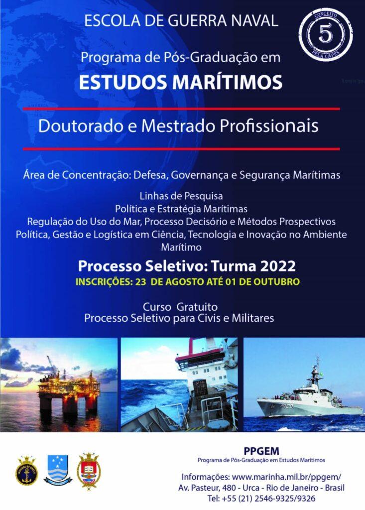 Processo Seletivo Mestrado e Doutorado na Escola de Guerra Naval