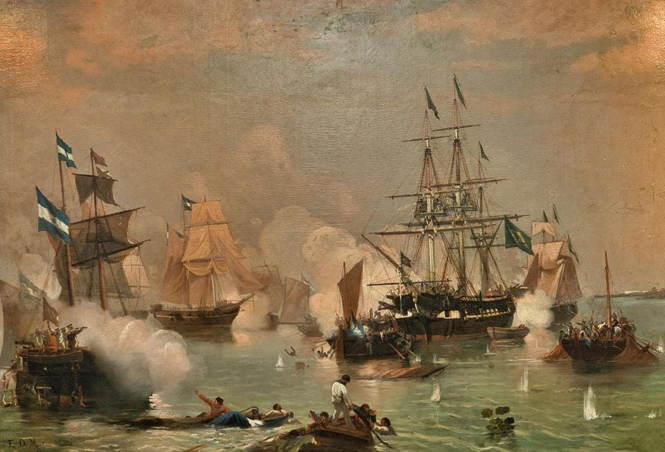 Guerra Cisplatina: Batalha Naval de Monte Santiago